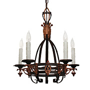 Antique Art Deco Chandelier, Early 1900s