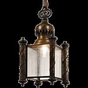 Antique Moorish Revival Lantern, c.1910