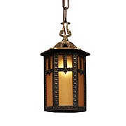 Antique Neoclassical Lantern with Original Glass, Early 1900s