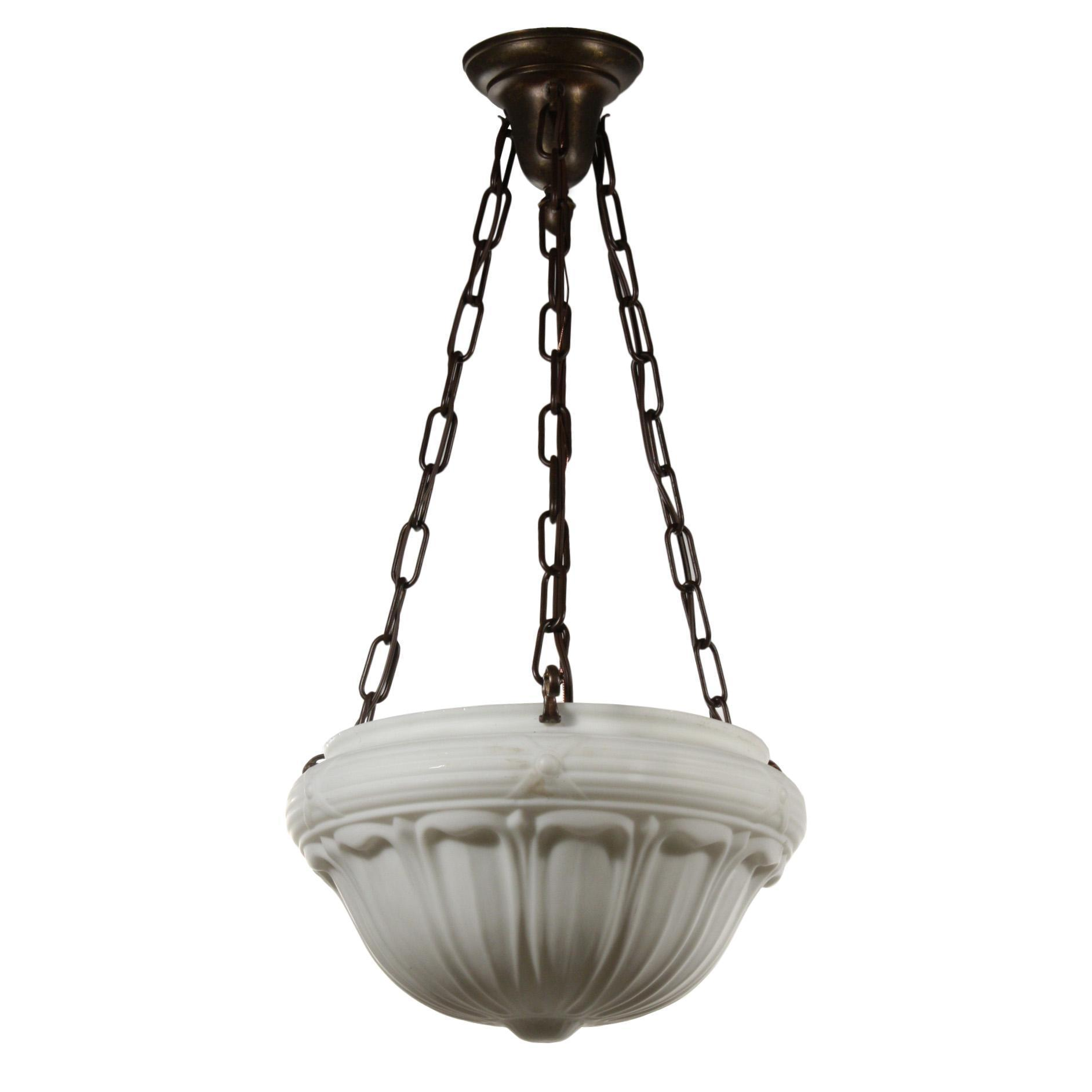 Antique Neoclassical Inverted Dome Chandelier, c.1910
