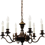 Antique Colonial Revival Chandelier, c. 1910
