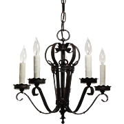 Antique Hand-Wrought Iron Chandelier