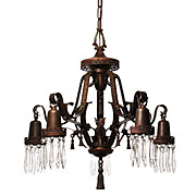 Antique Neoclassical Chandelier with Prisms, Early 1900s