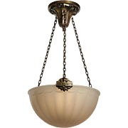 Antique Neoclassical Inverted Dome Chandelier, 1910s