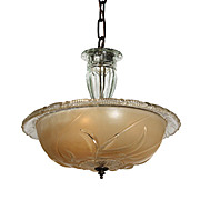 Antique Art Deco Pendant with Original Glass Shade