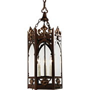 Antique Gothic Revival Lantern, Early 1900's