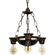 Antique Three-Light Chandelier by Lincoln, c. 1920's