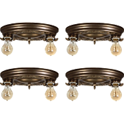 Antique Two-Light Flush Mount Fixtures