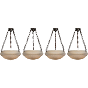 Neoclassical Inverted Dome Chandeliers, Antique Chandelier