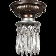 Flush-Mount Lights with Prisms, Antique Lighting