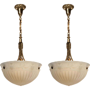 Adam Style Inverted Dome Chandeliers, Antique Lighting