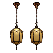 Antique Tudor Bronze Pendant Lights