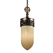 Gothic Revival Cast Bronze, Lantern, Antique Lighting