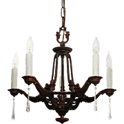 Antique Neoclassical Chandelier by Riddle