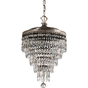 Antique Silver Plate Wedding Cake Chandelier, c.1910