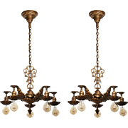 Antique Neoclassical Chandeliers, Early 1900s