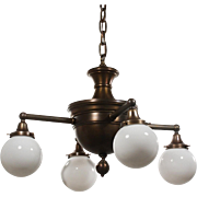 Antique Bronze Colonial Revival Chandeliers