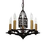 Neoclassical Chandelier in Cast Iron, Antique Lighting