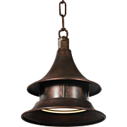 Industrial Pendant Light in Copper, Kim Manufacturing Co.