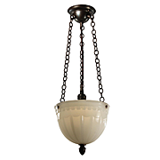 Inverted Dome Pendant Light, Antique Lighting