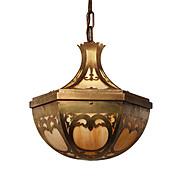 Neoclassical Brass Pendant with Original Slag Glass, Antique Lighting