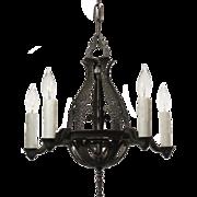 Delightful Antique Five-Light Tudor Chandelier