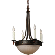 Antique Inverted Dome Chandelier, c. 1910's