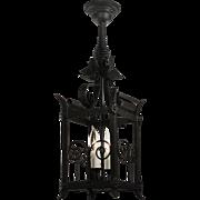 Late 19th Century Gas Lantern, Antique Lighting