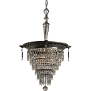 Antique Adam Style Wedding Cake Chandelier, Early 1900s