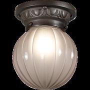 Neoclassical Flush Mount Light, Antique Lighting