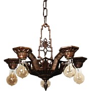 Art Deco Chandelier by Lapco, Antique Lighting