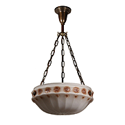 Antique Neoclassical Inverted Dome Chandelier, Early 1900s