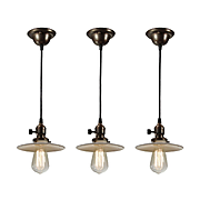 Industrial Pendant Lights with Milk Glass Shades, Antique Lighting