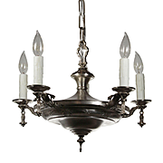 Antique Neoclassical Silver Plated Chandelier