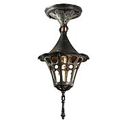 Tudor Semi-Flush Lantern, Antique Lighting