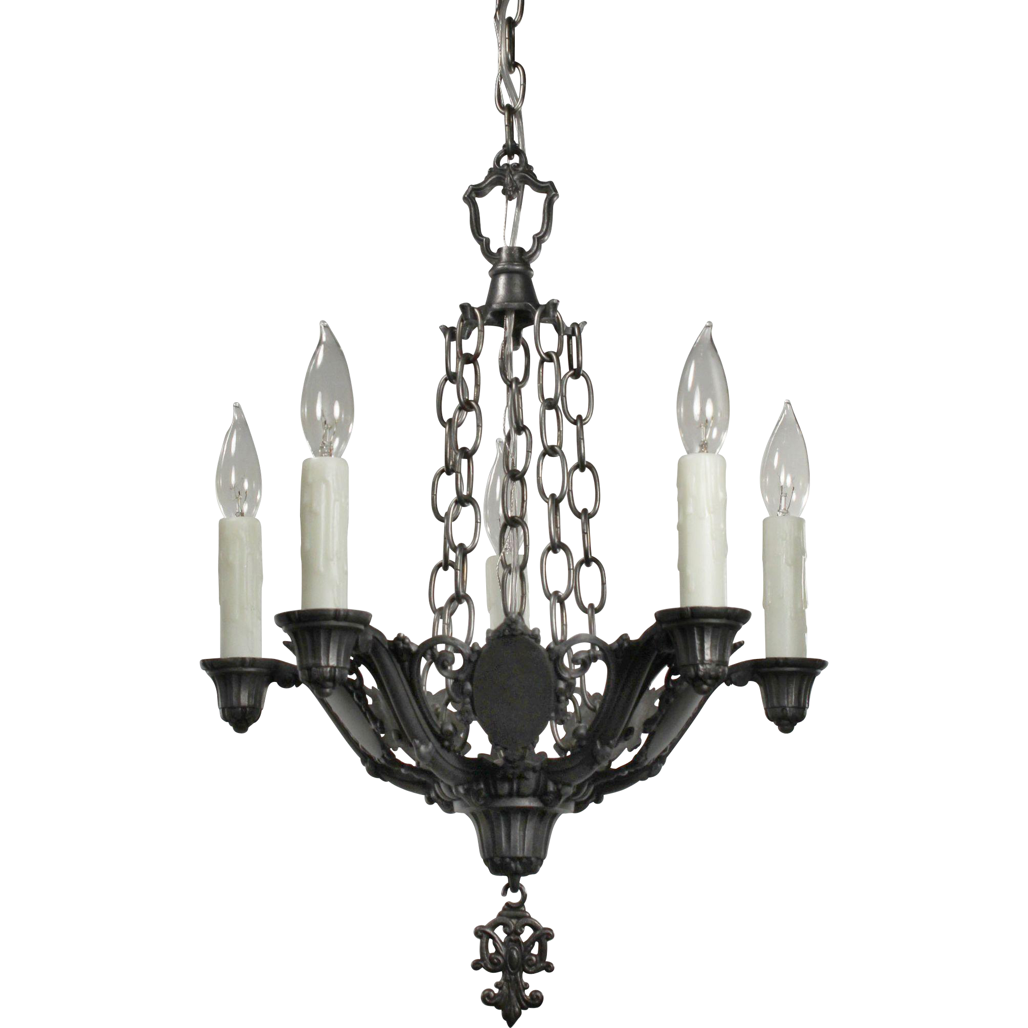 Antique Five Light Spanish Revival Chandelier Riddle Co from