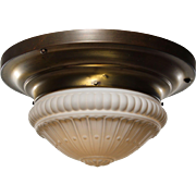 Antique Neoclassical Flush Mount Light, Early 1900s