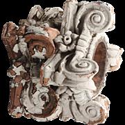 Antique Terra Cotta Corinthian Capitals