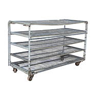 Reclaimed Industrial Shelving Unit, Colonial Bread