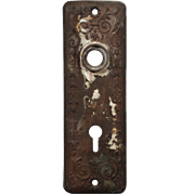 Antique Doorplates with Flowers, Late 19th Century
