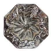 Beautiful Antique Glass Door Knob with Swirl Design, c.1909