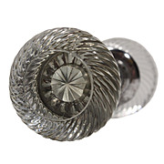 Fantastic Antique Swirled Glass Door Knob Set