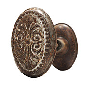 Delightful Antique Oval Doorknob Sets, c. 1910