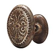 Delightful Antique Oval Doorknob Sets, c. 1910