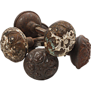 "Beautiful Antique ""Pasco"" Door Knob Sets by Yale & Towne, 1905"