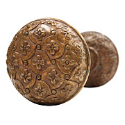 "Lovely Antique Cast Bronze ""Madras"" Door Knob Set by Yale & Towne, c.1894"