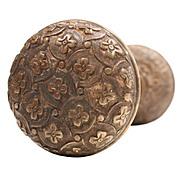 """Fantastic Antique Cast Bronze """"Madras"""" Door Knob Set by Yale & Towne, c.1894"""