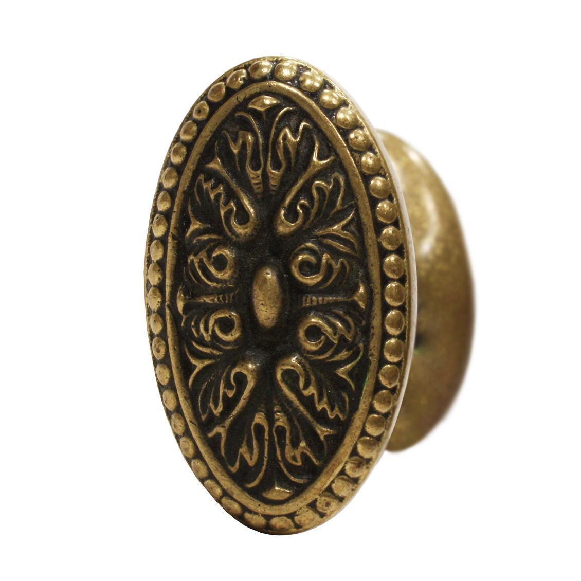 "Antique Cast Bronze ""Isigny"" Door Knob Set by Yale & Towne, c.1910"