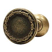 Antique Cast Bronze Doorknob Set, Early 1900s