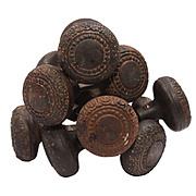 Antique Cast Iron Doorknob Sets with Beading